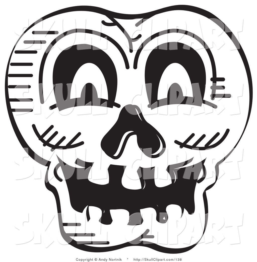 Uncategorized Scary Halloween Skulls vector clip art of a black and white scary halloween skull by andy skull