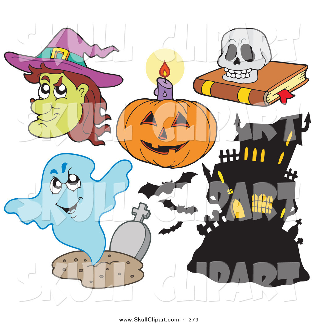 digital collage of halloween items on white - Halloween Items