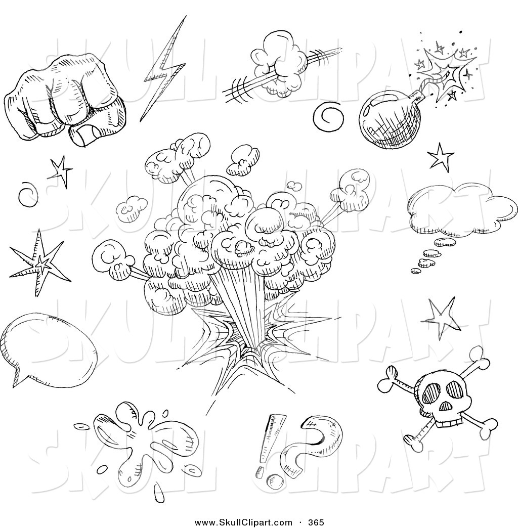 Black And White Sketches Art http://skullclipart.co/design/vector-clip-art-of-a-digital-set-of-black-and-white-comic-design-doodle-sketches-on-white-by-yayayoyo-365
