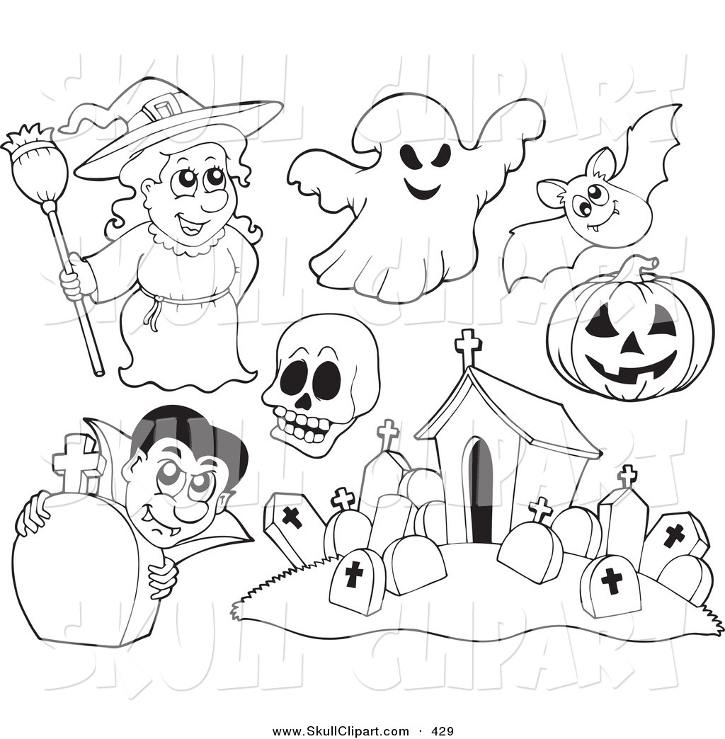Smiling Halloween Ghost likewise Clipart 12396 also Scary Halloween Clown Pointing At The Viewer And Holding Party Balloons 1350367 furthermore Vector Clip Art Of A Digital Set Of Halloween Coloring Page Outlines Of A Witch Ghost Skull Bat Pumpkin V ire And Cemetery By Visekart 429 additionally Halloweendecorations1. on scary cartoon tombstone
