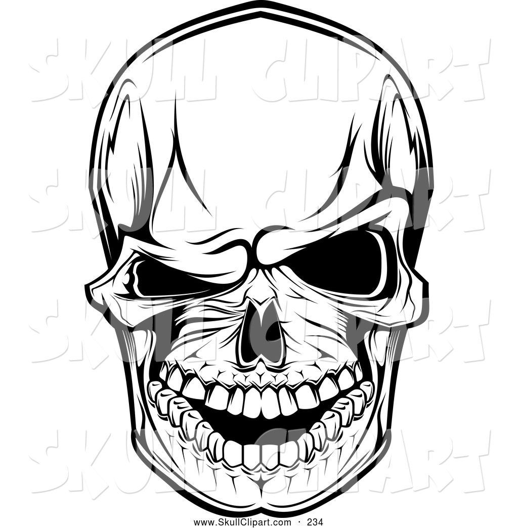 Royalty Free Black and White Stock Skull Designs - Page 3