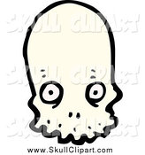 Vector Clip Art of a Alien Skull with Wide Eyes by Lineartestpilot
