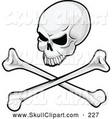 Vector Clip Art of a Angry Skull and Crossbones Image by Vector Tradition SM