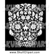 Vector Clip Art of a Day of the Dead Skull by Lineartestpilot