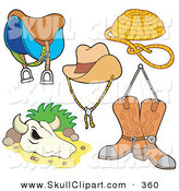 November 17th, 2012: Vector Clip Art of a Digital Set of Western Items by Visekart