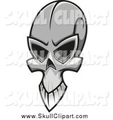 Vector Clip Art of a Grayscale Skull by Vector Tradition SM