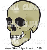 Vector Clip Art of a Grinning Human Skull by Lal Perera