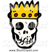 Vector Clip Art of a King Skull by Lineartestpilot
