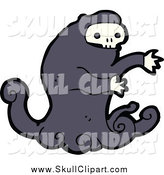 Vector Clip Art of a Monster with a Skull Face by Lineartestpilot