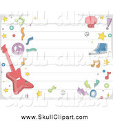 Vector Clip Art of a Ruled Paper and Music Doodles by BNP Design Studio