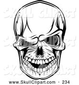 Vector Clip Art of a Scary Skull Winking at the Viewer by Vector Tradition SM