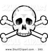 Vector Clip Art of a Skull and Crossed Bones on White by Cory Thoman