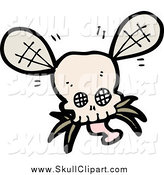 Vector Clip Art of a Skull Bug by Lineartestpilot