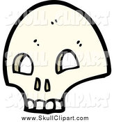 Vector Clip Art of a Skull by Lineartestpilot
