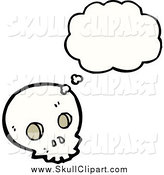 Vector Clip Art of a Skull in Thought by Lineartestpilot