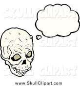 December 23rd, 2014: Vector Clip Art of a Skull in Thought by Lineartestpilot