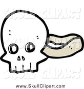 Vector Clip Art of a Skull Mask by Lineartestpilot
