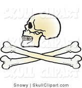 Vector Clip Art of a Skull over Cross Bones by Snowy
