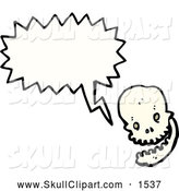Vector Clip Art of a Skull Talking by Lineartestpilot
