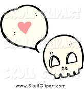 Vector Clip Art of a Skull Thinking About Love by Lineartestpilot