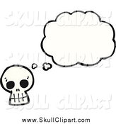 Vector Clip Art of a Skull with a Thought Bubble by Lineartestpilot