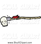 Vector Clip Art of a Skull with an Arrow by Lineartestpilot