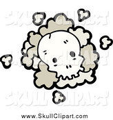 Vector Clip Art of a Skull with Dust by Lineartestpilot