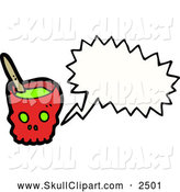 Vector Clip Art of a Talking Skull Bowl by Lineartestpilot