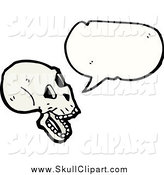 Vector Clip Art of a Talking Skull by Lineartestpilot