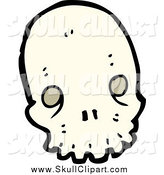 Vector Clip Art of a Weird Skull by Lineartestpilot