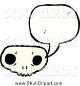 Vector Clip Art of a Weird Skull Speaking by Lineartestpilot