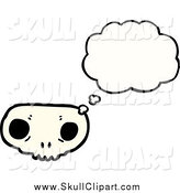 Vector Clip Art of a Weird Skull with a Conversation Bubble by Lineartestpilot
