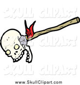 Vector Clip Art of an Arrow Piercing a Skull by Lineartestpilot