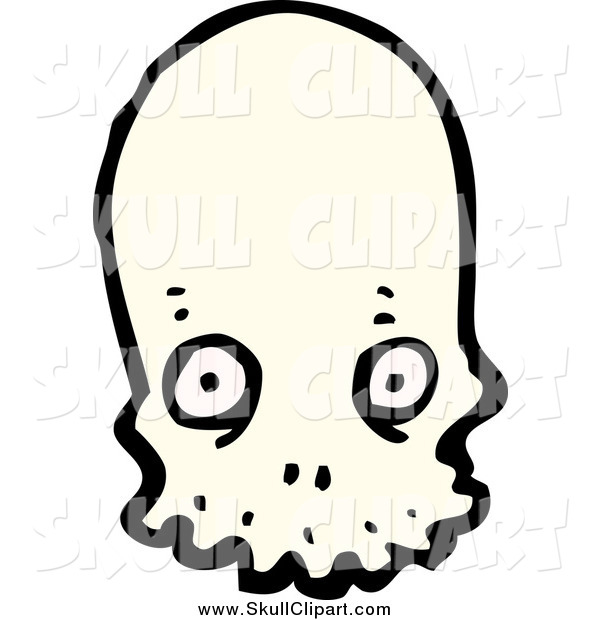 Vector Clip Art of a Alien Skull with Wide Eyes