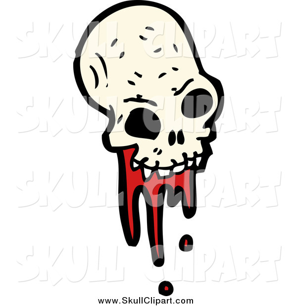 Vector Clip Art of a Bloody Alien Skull