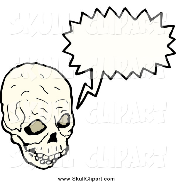 Vector Clip Art of a Creepy Skull Speaking