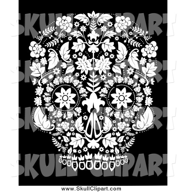 Vector Clip Art of a Day of the Dead Skull