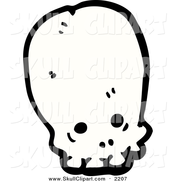 Vector Clip Art of a Long Alien Skull