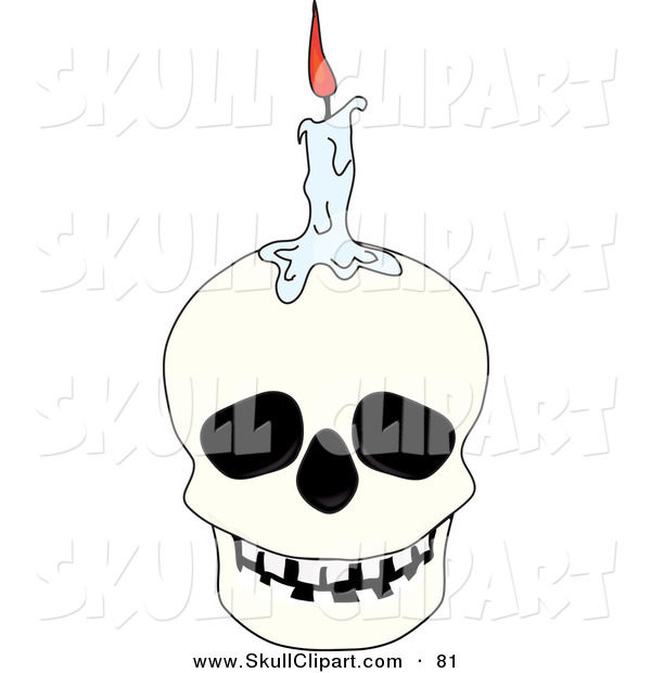 vector-clip-art-of-a-melting-halloween-candle-on-top-of-a-white-human ...