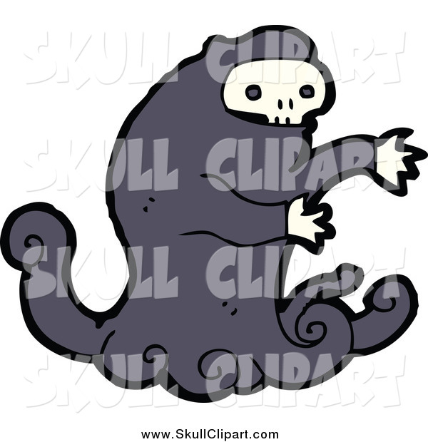 Vector Clip Art of a Monster with a Skull Face