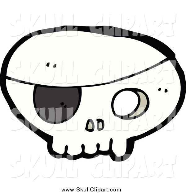 Vector Clip Art of a Pirate Skull with an Eye Patch