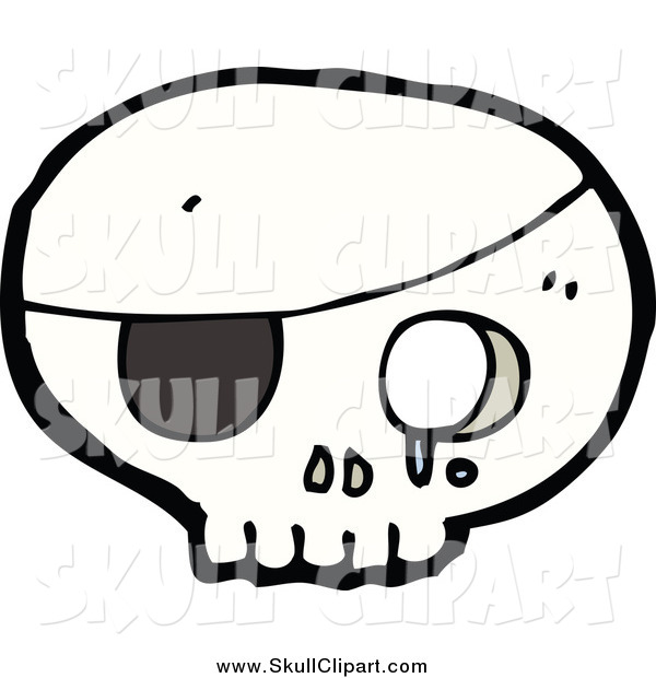 Vector Clip Art of a Pirate Skull with an Eyepatch