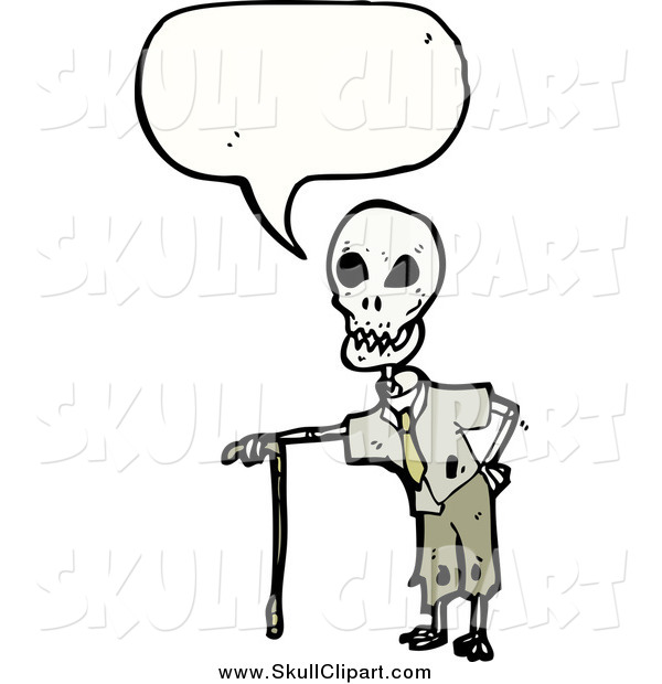 Vector Clip Art of a Skeleton Speaking