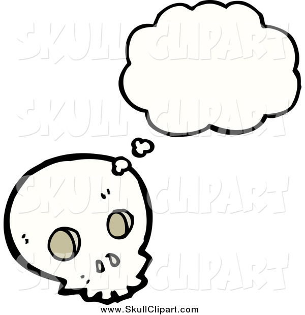 Vector Clip Art of a Skull in Thought