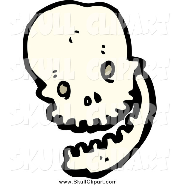Vector Clip Art of a Skull Laughing