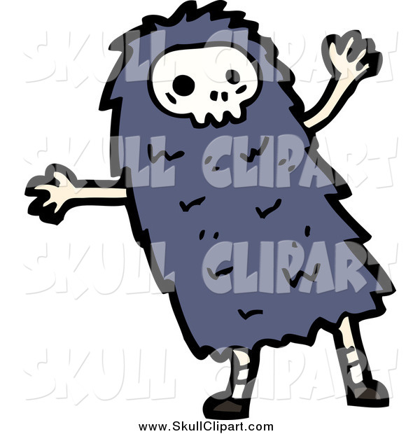 Vector Clip Art of a Skull Monster