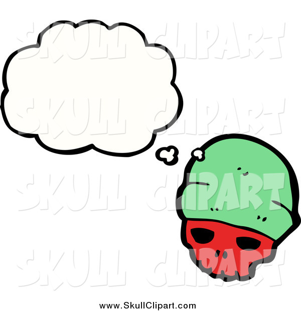 Vector Clip Art of a Skull Wearing a Green Hat