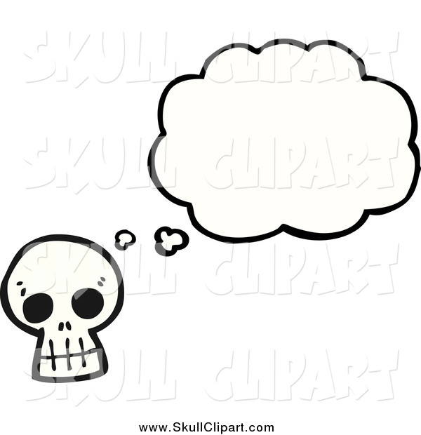 Vector Clip Art of a Skull with a Thought Bubble