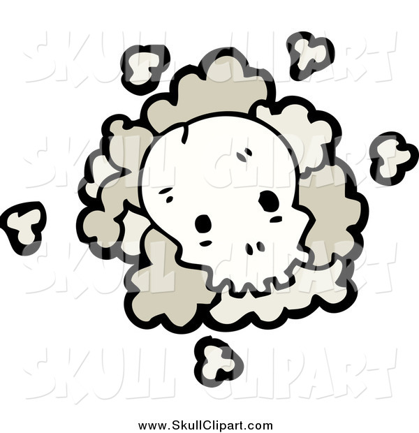 Vector Clip Art of a Skull with Dust