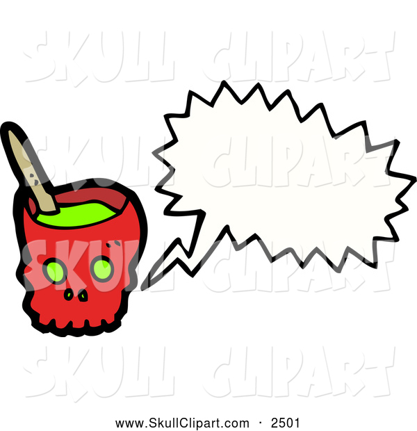 Vector Clip Art of a Talking Skull Bowl